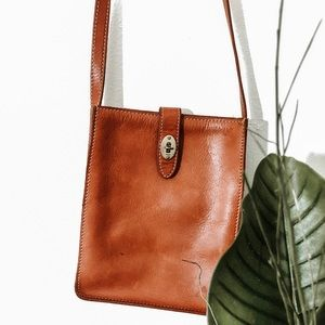 Leather Fossil Satchel
